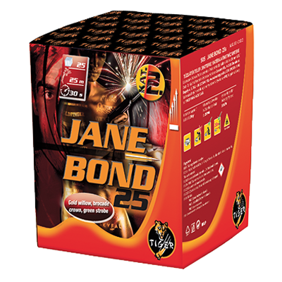 JANE BOND  25 shots