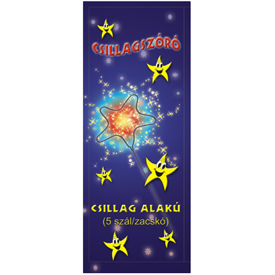 16 cm-es Csillagszóró - Csillag alakú (kicsi)