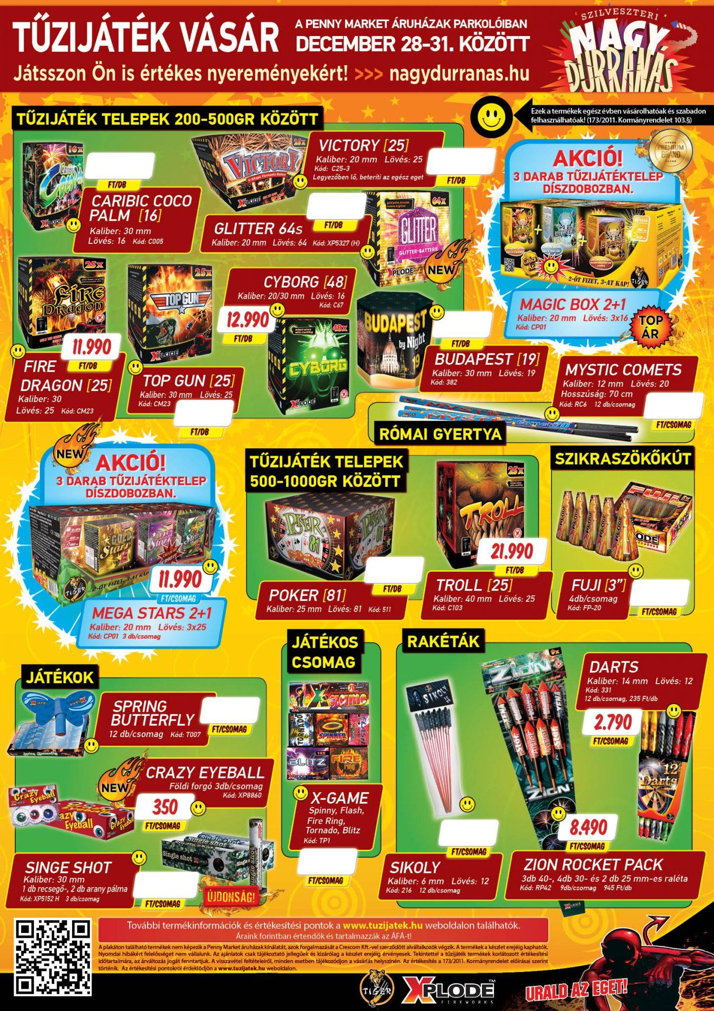 Crescom-Penny Market Tűzijátékvásár 2018 plakát