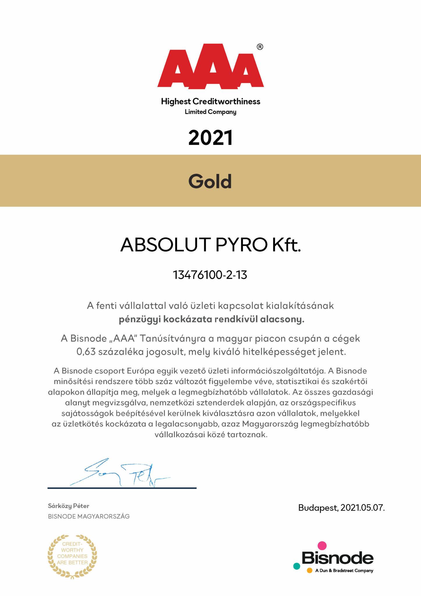 AAA creditworthy 2021